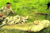 Житель Луцка выудил в реке рекордно большого сома