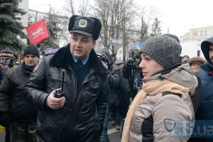 """""""Беркут"""" избил Оробец за съемку того, как силовикам раздают гранаты"""