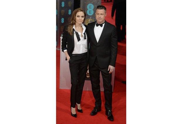 """Анджелина Джоли и Брэд Питт, один из продюсеров и актеров """"12 лет рабства"""""""