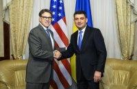 Гройсман і міністр енергетики США обговорили спільне управління ГТС і кооперацію у газовидобутку