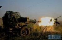 Украинские военные, несмотря на атаку боевиков, установили блокпост в Горловке