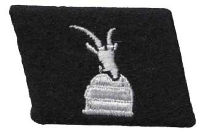 Петлиця дивізії 21 гірської дивізії «Скандербег». символ використовується у сучасному гербі Албанії.