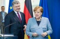 Порошенко провел телефонный разговор с Меркель накануне визита Путина в Германию
