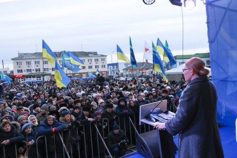 Тимошенко: украинцы выбирают не президента, а будущее