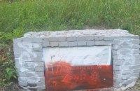 Пам'ятний знак воїнам УПА в Харкові у вчергове облили червоною фарбою