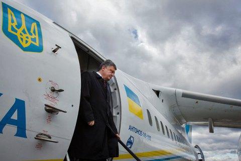 Порошенко на тиждень летить з України