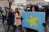 Львовские студенты благодарны Европе за поддержку