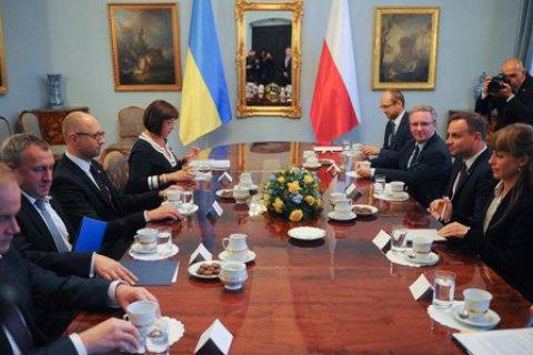 Дуда заверил Яценюка в поддержке Украины