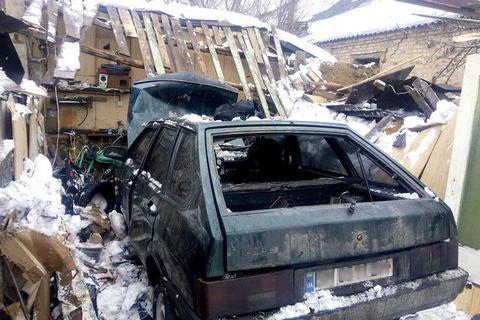 В Сумах из-за неполадки ГБО взорвалась машина с водителем