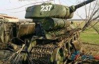 Під Луганськом пожежа і детонація снарядів знищили техніку бойовиків, - штаб АТО