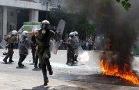 У парламента Греции демонстранты подожгли почтовое отделение