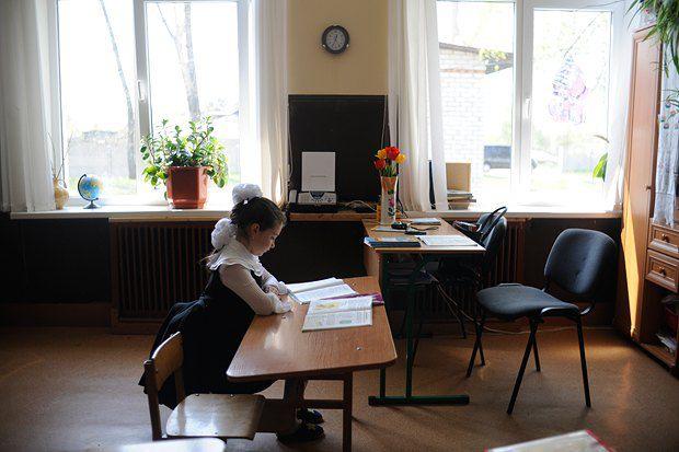 Еще один кадр из школы-семьи в Бобрице