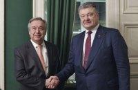 Порошенко провел в Мюнхене переговоры с генсеком ООН