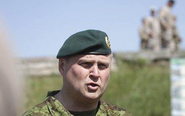 Командующий Силами обороны Эстонии генерал Рихо Террас