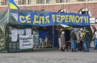 Харків'яни за добу зібрали понад 5 тисяч голосів за знесення волонтерського намету в центрі міста