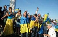 В Мариуполе собрался многотысячный митинг против российского вторжения