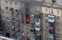 У Києві сталася сильна пожежа у сталінці на Кловському узвозі