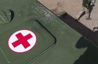 Безпілотники бойовиків скинули гранати на санітарний автомобіль біля Гнутового