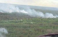 В Чернобыльской зоне наблюдаются отдельные очаги возгорания, - ГосЧС