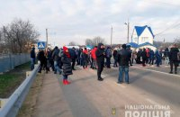 Жители нескольких сел Черновицкой области перекрыли автодороги из-за тарифов на газ