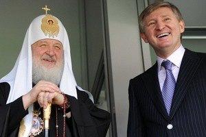 """Ахметов показал Патриарху Кириллу """"Донбасс Арену"""""""