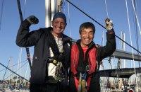 Сліпий японець на яхті перетнув Тихий океан