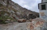 В Крыму обвалилась гора
