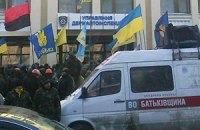 Кілька тисяч людей вимагали під ДАІ не блокувати постачання продуктів на Майдан