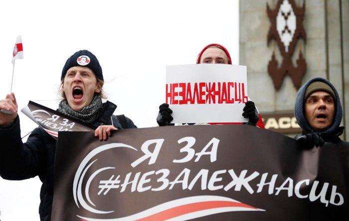 Во время протестов в Минске, 8 декабря