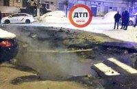 В центре Киева на улице Петлюры произошел прорыв на тепломагистрали