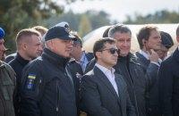 Зеленский побывал на учениях МВД по ликвидации последствий техногенной катастрофы