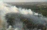 В Харьковской области горит около  70 гектаров леса