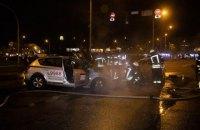 Два такси столкнулись и загорелись в Киеве