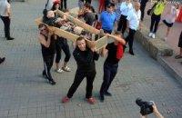Художники провели антивоєнну акцію на закритті Одеського кінофестивалю