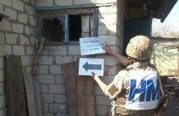 Военные показали последствия обстрела боевиками Зайцево