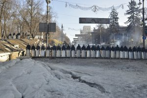 Міліція відступила з Грушевського до Кабінету Міністрів (фото додаються)