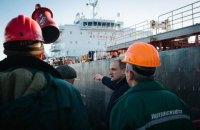 Украина приняла второй танкер с нефтью для Беларуси