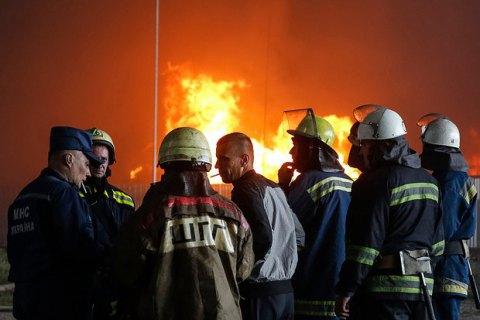 На газовой скважине в Сумской области произошел пожар