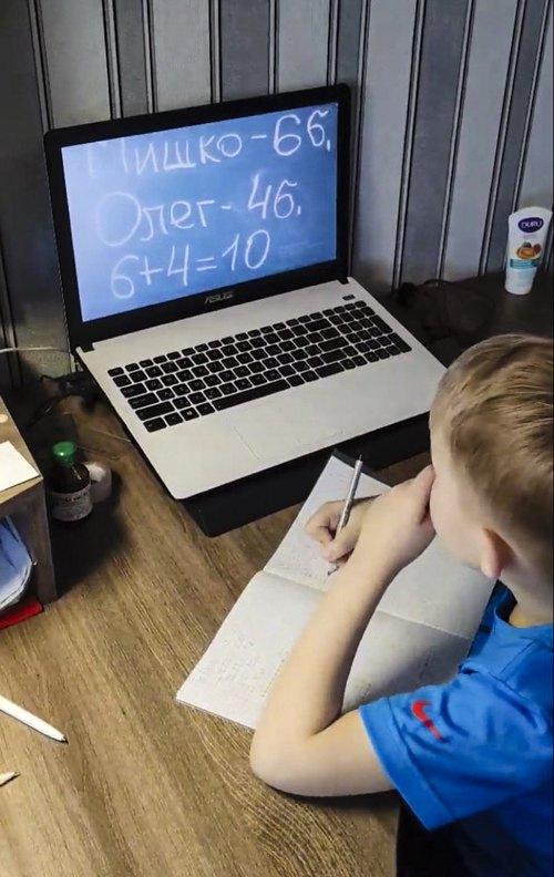скріншот з відео дистанційного заняття у класі Марини Кисіль