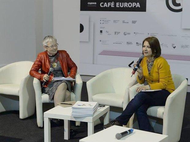 Ева Фігель(ліворуч) і Оксана Розумна
