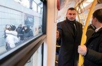 Кличко випробував один із польських трамваїв PESA, закуплених Києвом наприкінці 2017 року