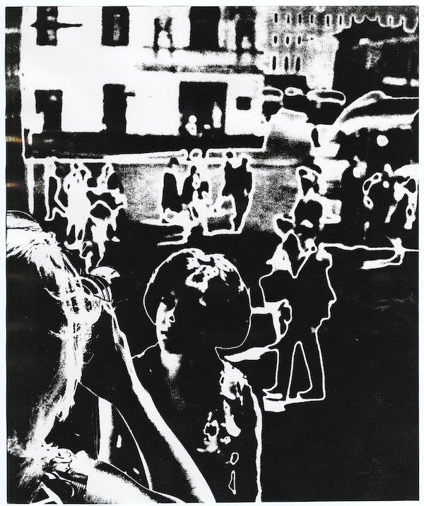 Олег Малеваный, «На улице», 1966, серебряно-желатиновая печать, соляризация