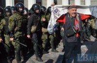 15 милиционеров получили травмы у Рады, задержаны 50 человек (обновлено)