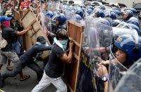 Против протестующих из-за приезда Трампа филиппинцев применили водометы