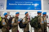 80 украинских миротворцев возвращаются с 14-летней миссии в Либерии