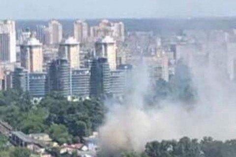 ВКиеве около  Гидропарка произошел пожар