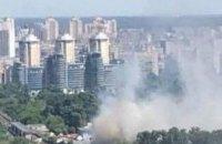 В киевском Гидропарке горит спортзал