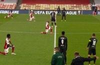 """Игроки """"Славии"""" не встали на колено перед """"Арсеналом"""" - ни до, ни во время матча Лиги Европы"""