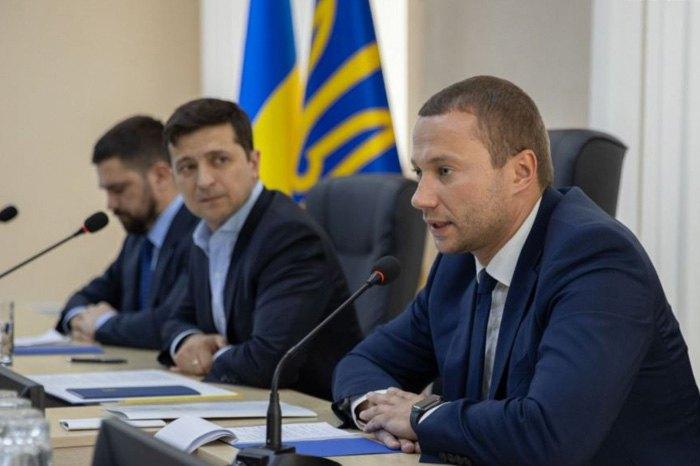Президент Володимир Зеленський і голова Донецької ВГА Павло Кириленко