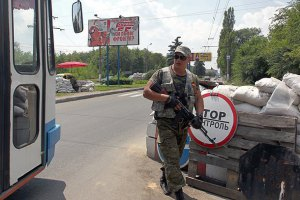 На въезде в Первомайск боевики обстреляли пассажирский автобус